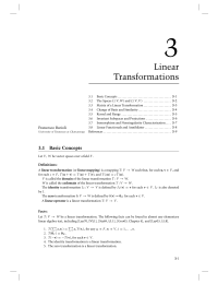 3 Chapter 3 Linear Transformations