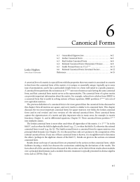 6 Chapter 6 Canonical Forms