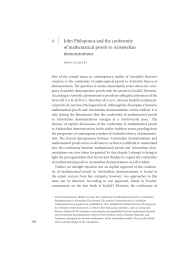 John Philoponus and the conformity of mathematical proofs to Aristotelian demonstrations Orna Harari