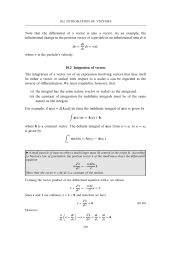Integration of vectors