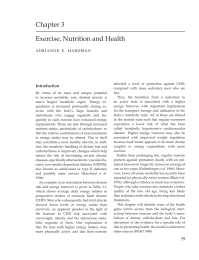 ExerciseNutrition and Health
