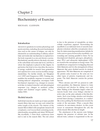 Biochemistry of Exercise