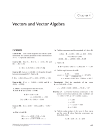 Vectors and Vector Algebra