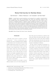 Motion Path Searches for Maritime Robots
