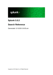 Splunk 5.0.2 Search Reference