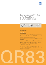 Quality Assurance Directive for Purchased Items 購入品の品質保証