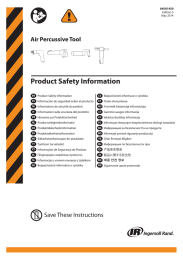 Product Safety Information, Air Percussive Tool