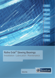 Rothe Erde Slewing Bearings