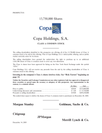Copa Holdings, SA - Morgan Stanley Online